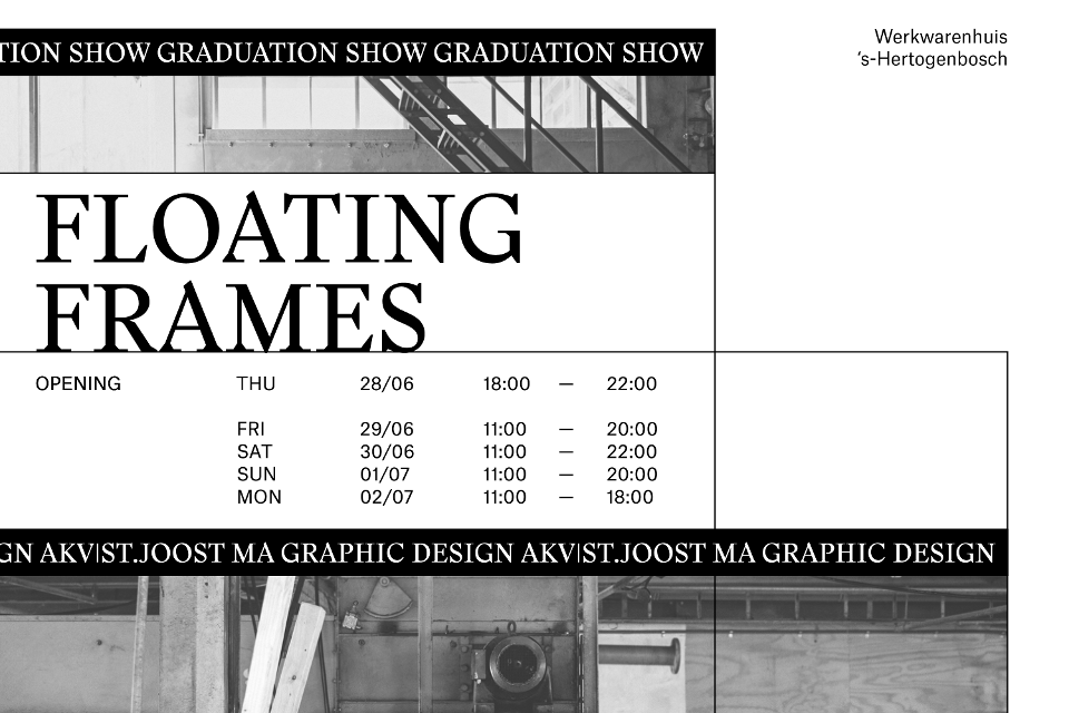 Floating Frames - Graduation Show MA Graphic Design